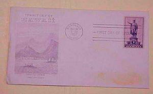 HAWAII FDC 1937 GRIMSLAND CACHET ADDRESSED