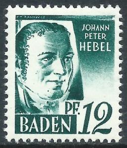 Baden, Sc #5N4, MH