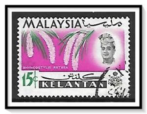 Kelantan #96 Sultan & Orchids Used
