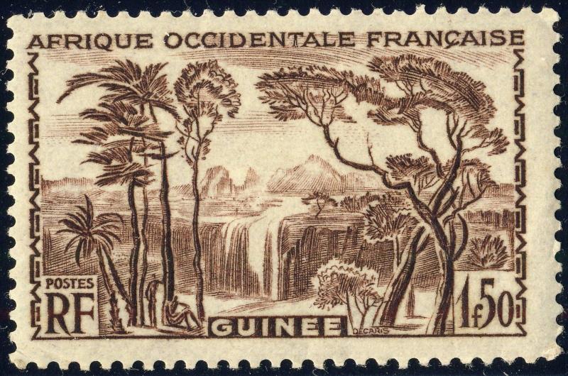 GUINÉE / FRENCH GUINEA - 1938 -Yv.140 / Mi.151 1fr50 brun - Neuf*