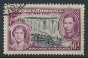 Southern  Rhodesia  SG 39  SC# 41   Used / FU Coronation see scans  and details