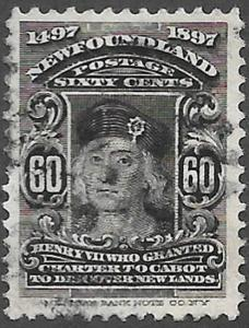 Newfoundland Scott Number 74 VF Used