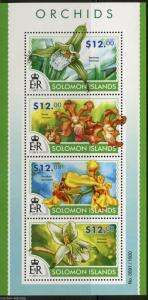 SOLOMON ISLANDS 2015 ORCHIDS  SHEET   MINT NH
