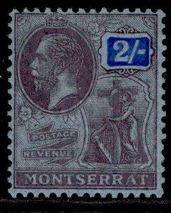 MONTSERRAT GV SG79, 2s purple & blue/blue, M MINT.