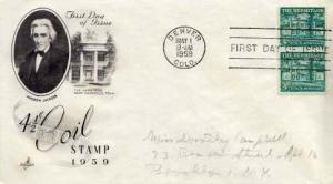 United States, First Day Cover, Colorado