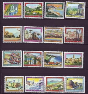 J22653 Jlstamps 1980-4 italy sets mnh #1402-5,1466-9,1520-3,1563a-d tourist type