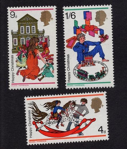 Great Britain  #572-574  1968 MNH Christmas