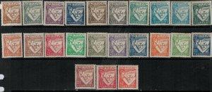 Portugal 1931-1938 SC 497-519 Mint SCV $111.00 Set