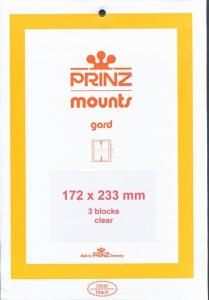 Prinz Scott Stamp Mount 172/233 - CLEAR Background - Pack of 3