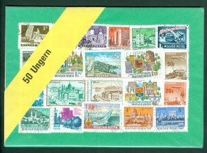 Hungary. Lot 50 Different Stamp.Used. In Sealed Packing