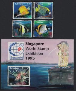 Tokelau Reef Fishes 4v+MS SG#224-MS228