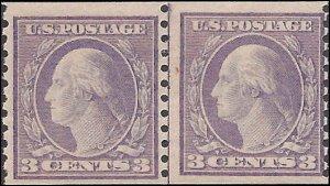 494 Mint,OG,H... Line Pair.. SCV $75.00