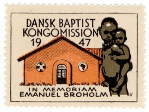 (I.B) Denmark Cinderella : Baptist Congo Mission Seal (1947)