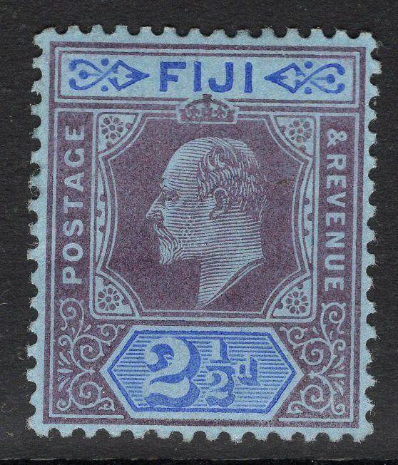 FIJI SG107 1903 2½d DULL PURPLE & BLUE MTD MINT