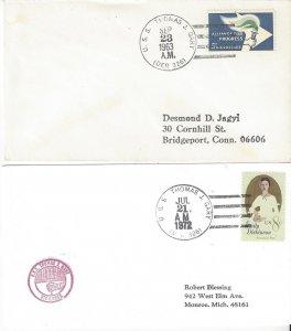 US Naval Cover USS Thomas J. Gary  DER 326  1963, 1972