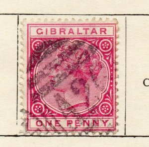 Gibraltar 1898 Early Issue Fine Used 1d. NW-114719