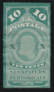 US PR2 10c Newspaper Periodicals Mint F-VF NGAI SCV $300