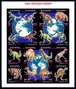 [95704] Guinea 1993 Prehistoric Animals Dinosaurs Imperf. Sheet MNH