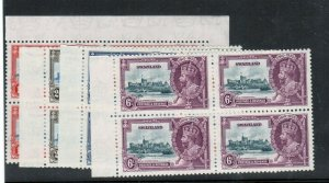 Swaziland #20 - #23 Very Fine Never Hinged Margin Blocks