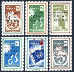 Panama 425-426,C218-C221,C221a,MNH.Mi 548-553,Bl.7. UN 1959.Economic Commission.