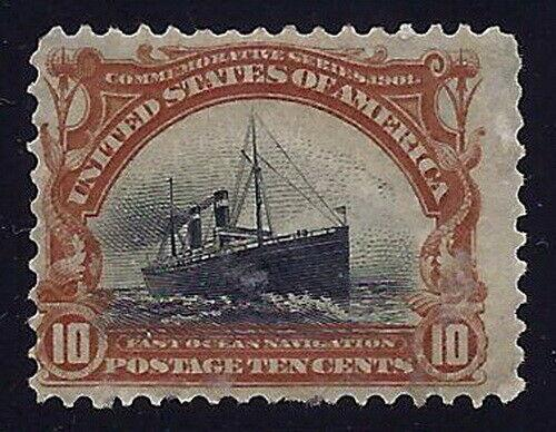 299 - 10c Color Shift Error / EFO Pan-American Slow Sinking Ship MHH