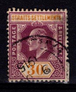 Straits Settlements 1906-12 Edward VII Definitive, 30c [Used]