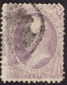US Stamp #153 24c Purple Scott USED SCV $210