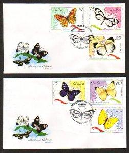Cuba, Scott cat. 3645-3650. Butterflies issue. First day cover. ^