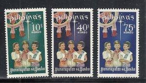 Philippines #1003-5 comp mnh cv $2.00 Christmas
