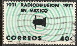MEXICO 1034 50th Ann 1st radio broadcast Lat Amer Used (476)