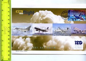 242078 ALDERNEY 100 years of FLIGHT PLANES 2003 year FDC