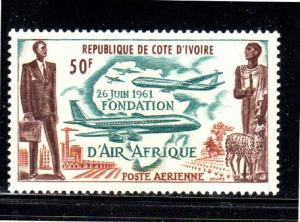 IVORY COAST #C18  1962  AIR AFRIQUE ISSUEMINT  VF NH  O.G
