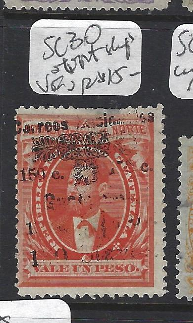 GUATEMALA (PP2408B)  SC 30  OVPT SHIFT AND BROKEN LETTERS  VFU
