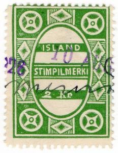 (I.B) Iceland Revenue : Duty Stamp 2Kr