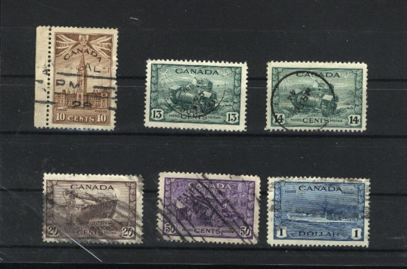 C  #257- 262  used  1942-43 PD