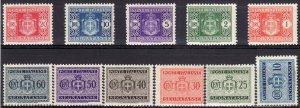 1945 - 1946 Italy postage due full set Wmk 277 MNH Sc# J54 / J64 CV $175.00