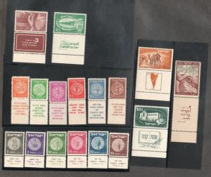 Israel Selection of Better Tab Sets #1/34 MNH!!!!!!!