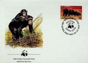 Sierra Leone FDC Chimpanzees WWF 1983