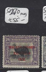 NORTH BORNEO  (P2601B)  24C BIRD  MBE  SG 270      MOG
