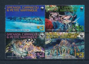 Grenada Carriacoa MNH Marine Life Spiny Lobster WWF 2009