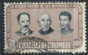 Colombia #C278 20c Mari Hidalgo Petion