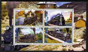 Malawi 2010 M/S Trains Steam Locomotives Transport Railway Rail Stamps MNH (1)