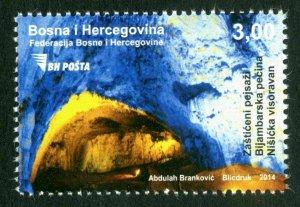 BOSNIA & HERZEGOVINA/2014, Protected landscapes - Bijambare cave, MNH
