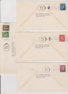 Canada - #284-288 Set of KGVI First Day Covers