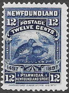 Newfoundland Scott Number 69 F LH