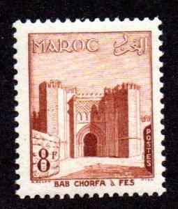 FRANCE MOROCCO 317 MH BIN $.60 ARCHITECTURE