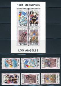Philippines - MNH Set Los Angeles Olympic Games 1984 ($33)