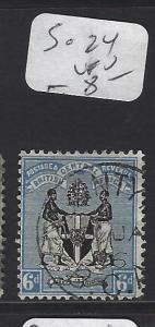 BRITISH CENTRAL AFRICA  (P2909B)  ARMS   6D   SG 24   VFU