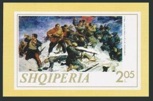 Albania 1518 sheet,MNH.Michel Bl.47. Battle of Tenda,by F.Haxhiu,1973.