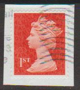 GB QE II Machin SG U2968d - 1st vermillion  - date code M13L - Source  S